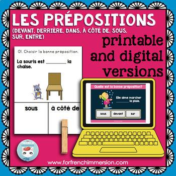 Prépositions CLIP CARDS: French prepositions