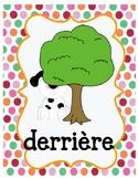 Les prépositions! French preposition posters