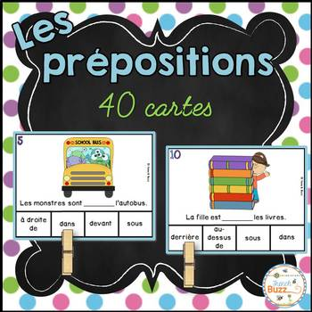 Les prépositions - Jeu d'association - French prepositions of place