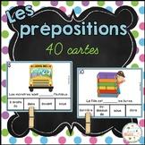 Les prépositions - Jeu d'association - French prepositions of place