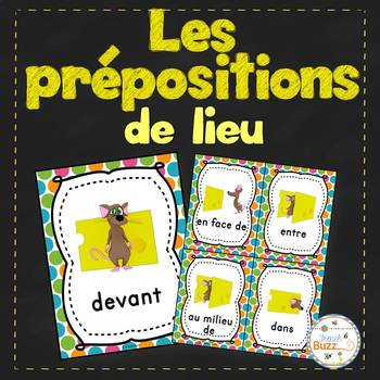 Les prépositions - Affiches - French prepositions of place posters