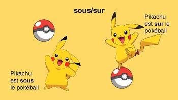 Les prépositions de lieu Pokémon