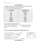 Les prepositions et les conjonctions