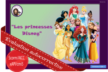 Les princesses Disney (Les yeux et les cheveux)