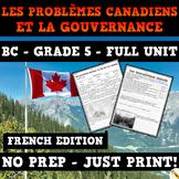 Les problèmes canadiens et la gouvernance - Canadian Issues and Governance - BC
