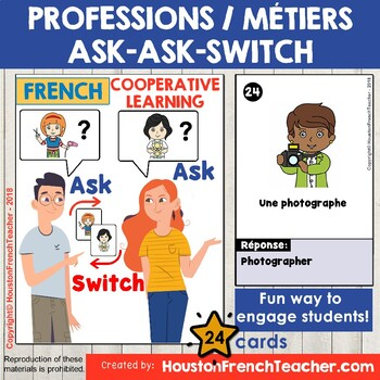 Les professions French Jobs -Les métiers - Ask Ask Switch - COOPERATIVE LEARNING