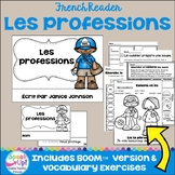 Les professions / les métiers French Occupations Jobs Reader & Boom Cards Audio