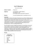 Professions:  French Speaking Activity