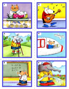 Les professions - jeux et activités - cartes de vocabulaire