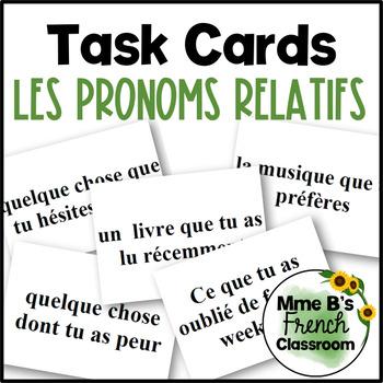 Les pronoms relatifs: les cartes à tâches (D'accord 3 Leçon 9)