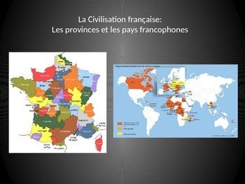 French- Les provinces de France et les pays francophones présentation