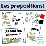 Les prépositions! French mini book and centres