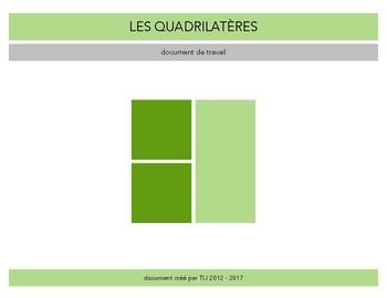 Les quadrilatères - Document de travail