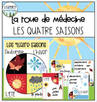 Les quatre saisons - La roue de médecine / Four Seasons Medicine Wheel Posters