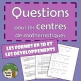 Les questions pour les centres de mathématiques (Math centre questions)