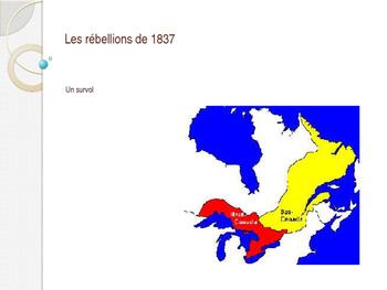 Les rebellions de 1837