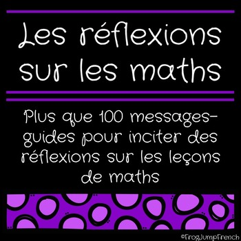 Les reflexions sur les maths // French math reflections