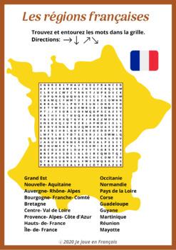 Les régions françaises [Mots mêlés].