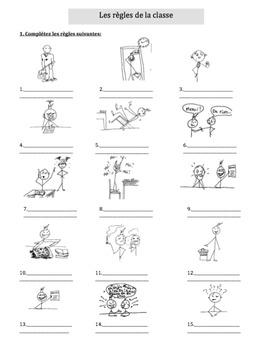 Les règles de la classe Classroom rules