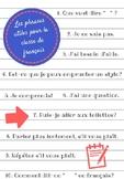 Les phrases utiles pour la classe de français