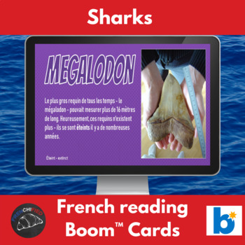 Les requins - Boom™ Task cards for French learners