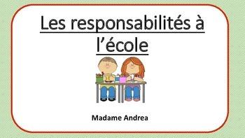 Les responsabilités à l'école