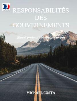 Les responsabilités du gouvernement fédéral, provincial/terr et municipal (#4)