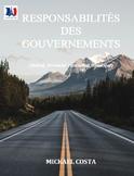 Responsabilités gouvernement fédéral, provincial/terr et m