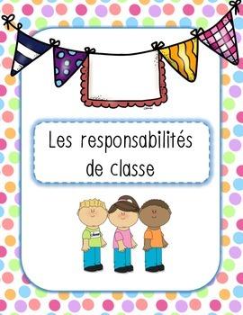 Les responsabilités de classe - 40 étiquettes