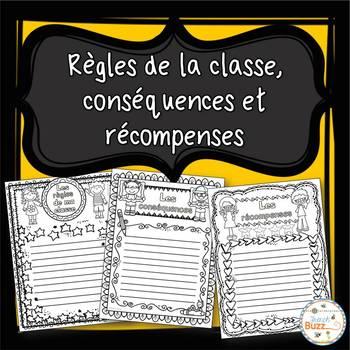 Les règles, récompenses et conséquences - la rentrée - French Back to School