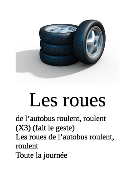Les roues de l'autobus (Wheels on the bus song) in French