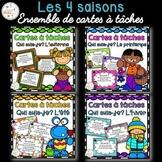 Les saisons - Ensemble de cartes à tâches - Seasons Task Cards - Bundle