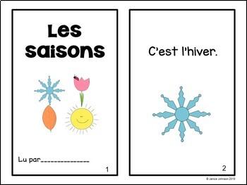 Les saisons French Seasons Emergent Reader Book {en français} ~ Simplified