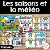 Les saisons et la météo - étiquettes pour la classe - thème: chevron