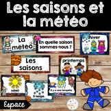 Les saisons et la météo - étiquettes pour la classe - thème: espace