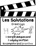 Les salutations - French greetings dialogues & role-plays