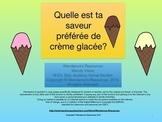 Les saveurs de crème glacée