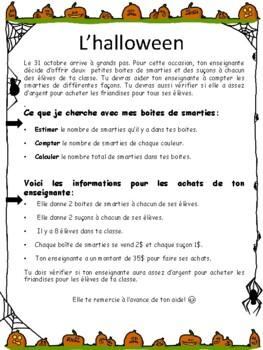 Les smarties de l'Halloween (2 année)