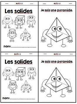 Les solides- French 3D Super Solids Pack - activities, worksheets and more!