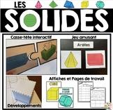 Les solides (activités - affiches - fiches) - French 3D Shapes