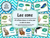 Les sons - 40 affiches bleues/vertes (40 French Sound Post