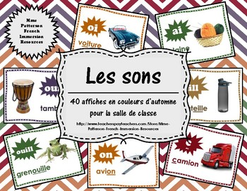 Les sons - 40 affiches couleurs d'automne (40 French Sound Posters - Fall)