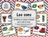 Les sons - 40 affiches couleurs d'automne (40 French Sound