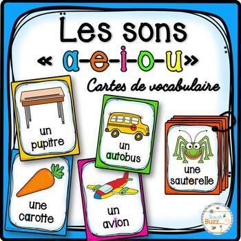 Les sons a-e-i-o-u - Cartes de vocabulaire - Ensemble