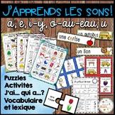 "Les sons ""a"", ""e"", ""i-y"", ""o-au-eau"", ""u"" - Ensemble - Bundle"