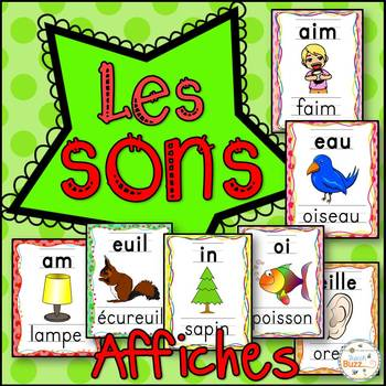 Les sons - 37 affiches/ 37 French sounds posters