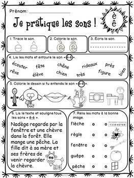 """Les sons """"ç"""", """"é"""", """"è"""", """"en"""", """"gn"""" - Ensemble"""