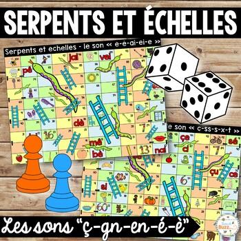 Les sons ç-é-è-en-gn - Serpents et échelles - Ensemble