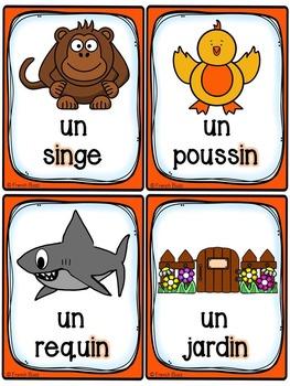 Les sons ch-in-oi-on-ou - Cartes de vocabulaire - Ensemble