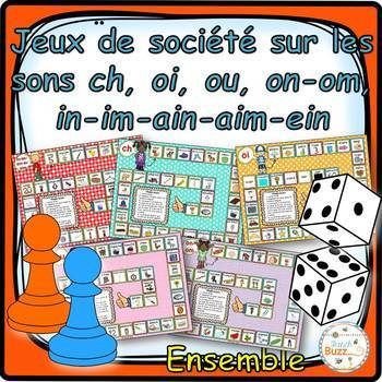"Les sons ""ch"", ""oi"", ""on-om"", ""in-im-ain-ein"", ""ou"" - jeux"